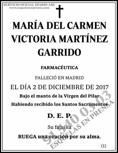 María del Carmen Victoria Martínez Garrido